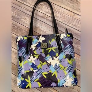 Anne Klein Handbag Floral Tote Purse NWOT